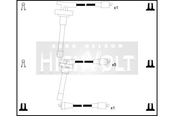 oef200 ignition leads set for porsche 911 3 0 1974